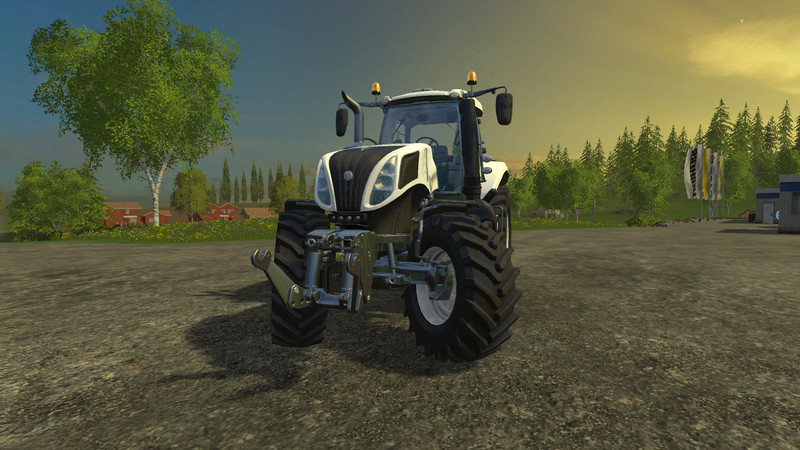 New Holland T8 Ultra White