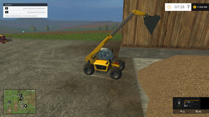 Here is the original telescopic loader bucket from the LS15