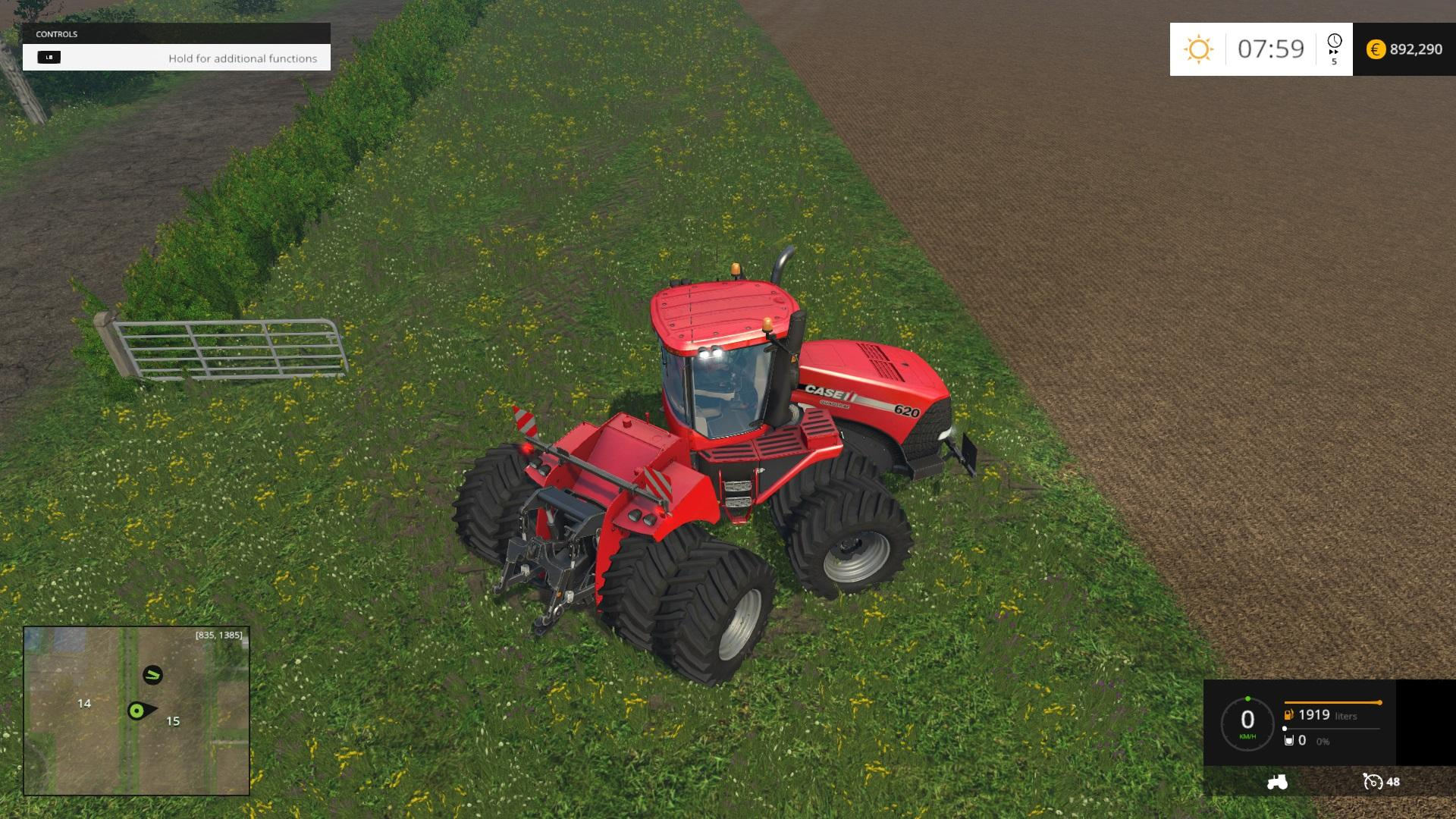 CASEIH 620 6PACK WITH DYNAMIC WHEELS