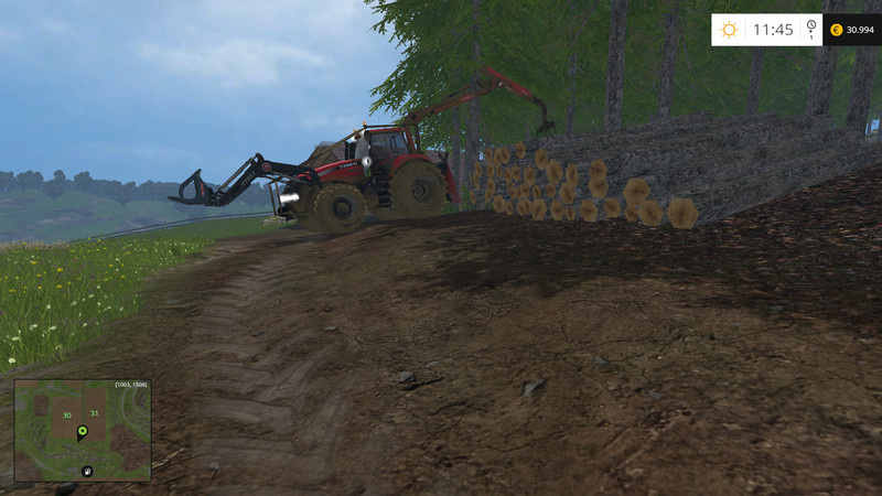 Case 380 Forestry Tractor
