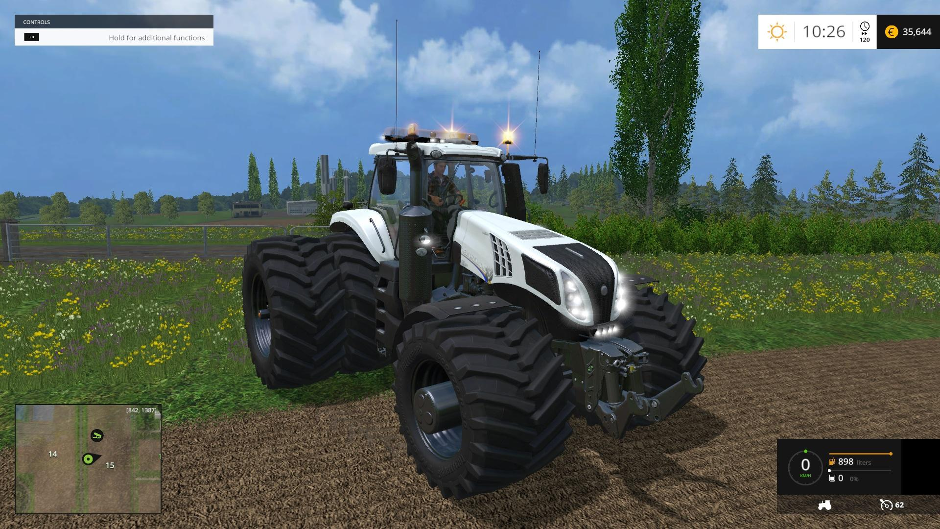 NEW HOLLAND T832 EVOXTREME 620 tractor