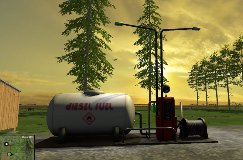 Fuelstation With Lights