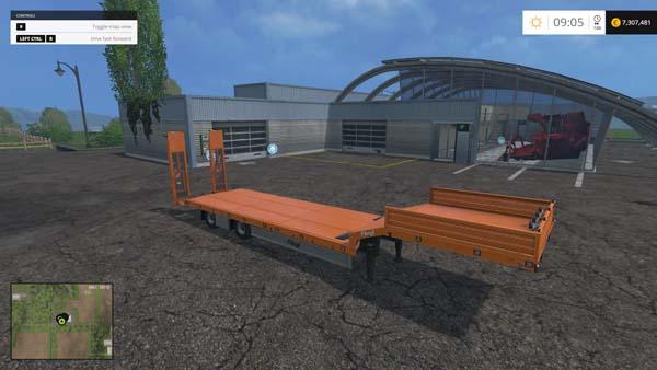 Fliegl low loader