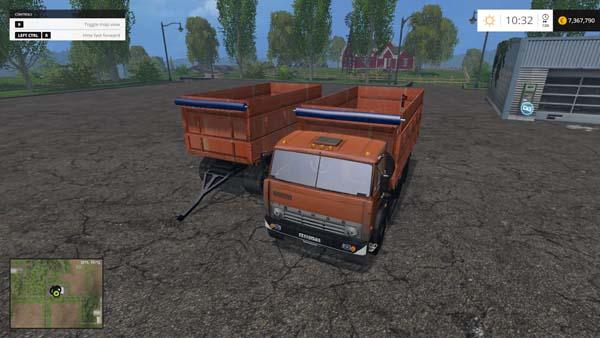 Kamaz 55143 and trailer NEFAZ 8560