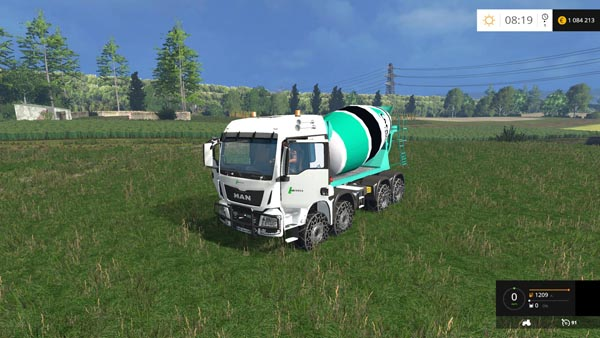 Man Tga 8X8 Concrete Mixer
